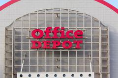 office depot store exterior - stock photo