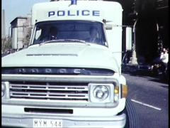 Police Van Drives to Pentridge Prison, Melb Australia Stock Footage
