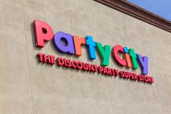 party city store exterior sign - stock photo