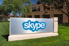 Skype corporate building in silicon valley Stock Photos