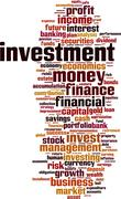 Investment word cloud Stock Illustration