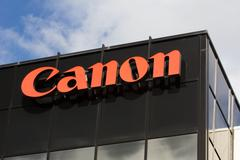 canon corporate headquarters sign - stock photo