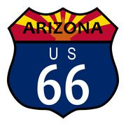 Route 66 arizona Stock Illustration