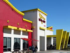 Exterior of an in-n-out burger Stock Photos