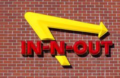 In-n-out burger exterior sign Stock Photos
