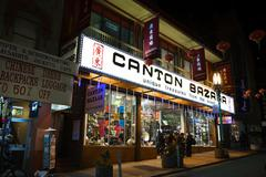 chinatown san francisco after hours - stock photo
