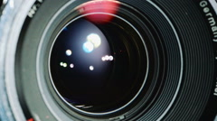 shutter inside lens openning - stock footage