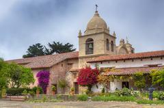 Facade of the chapel mission san carlos borromeo de carmelo Stock Photos
