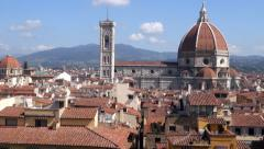 Cathedral Santa Maria Del Fiore in Florence Stock Footage