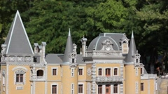 Palace model in miniature park Stock Footage