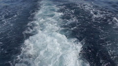 The wake of a boat cutting through the sea. Stock Footage