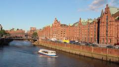 Speicherstadt warehouse district of Hamburg, Germany Stock Footage