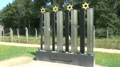 Children's Memorial in Camp Vught National Memorial, Netherlands. Stock Footage