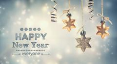 happy new year everyone! - stock illustration