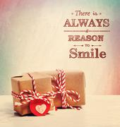 there is always a reason to smile with cute little gift boxes - stock illustration