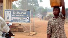 African Village, Sierra Leone Stock Footage