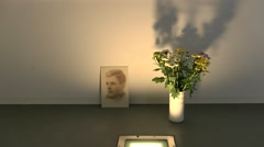 Memorial Room in Camp Vught National Memorial, Netherlands. Stock Footage