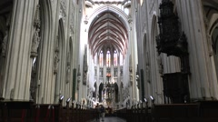 Cathedral Church of St. John (Sint-Janskathedraal), Den Bosch, Netherlands. Stock Footage