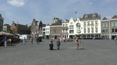 Market Square in 's-Hertogenbosch (Den Bosch), North Brabant, Netherlands. Stock Footage