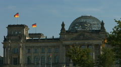 Reichstag house of German parliament in Berlin Stock Footage
