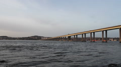 Tay Road Bridge and Dundee Waterfront  Scotland Stock Footage