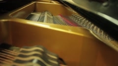 Inside of a Classical Piano as it is being played Stock Footage