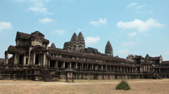 Timelapse 1080p: People in Angkor Wat, Siem Reap, Cambodia Stock Footage