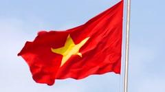 Vietnam - National flag - stock footage