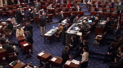 United States Senate Floor Voting Session - stock footage