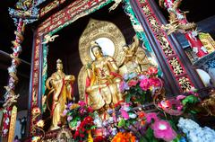 Statue of Guanyin, the Goddess of Mercy, at Lushan Temple, Changsha, China Stock Photos