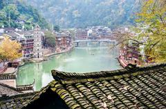 Fenghuang ancient town, Hunan Province, China - stock photo