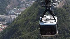 Sugar Loaf Cable Car (aka Bondinho) in Rio de Janeiro, Brazil Stock Footage