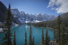 moraine lake, banff national park - stock photo