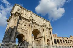 arch of constantine, rome, italy. built to commemorate the emperor's victory - stock photo