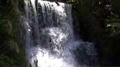 Waterfall with close up Stock Footage