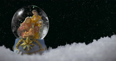 Christmas snow globe 01 Stock Footage