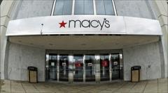Macys storefront loop Stock Footage