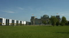Reichstag and Paul Loebe House Berlin Stock Footage
