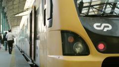 Railway station platform Sao Bento, Porto - stock footage