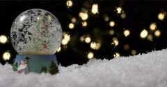 Christmas snow globe 02 Stock Footage