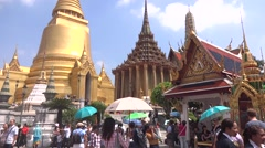 Thailand king palace Stock Footage