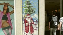 Christmas Bazar Porto, Portugal Stock Footage