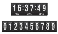 Scoreboard countdown timer vector illustration Stock Illustration