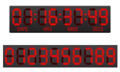 scoreboard digital countdown timer vector illustration - stock illustration