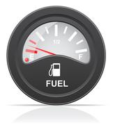 Stock Illustration of fuel level indicator vector illustration