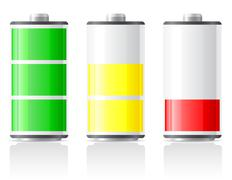 icons charge battery vector illustration - stock illustration