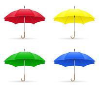 colors umbrellas vector illustration - stock illustration