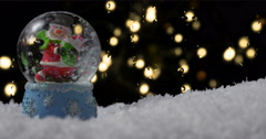 Christmas snow globe 03 Stock Footage