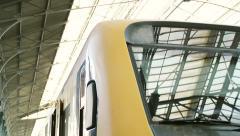 Railway station platform Sao Bento, Porto Stock Footage