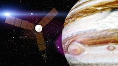 Jupiter and satellite juno Stock Illustration
